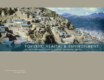 Poverty, HealtH, & environment - UNDP-UNEP Poverty-Environment ...
