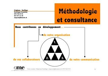 Le bilan organisationnel - Stéphane Haefliger Sociologue
