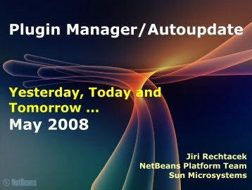 Plugin Manager/Autoupdate May 2008 - NetBeans Wiki