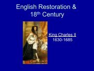 Theatre from Restoration to Romanticism: England, 1660-1800