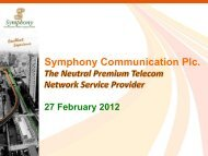 Symphony Communication Plc. - irplus.in.th