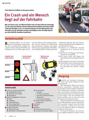 Unfälle im Strassenverkehr