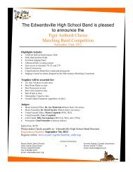 The Edwardsville High School Band is pleased to announce the ...