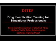 Drug Identification Training for Educational Professionals