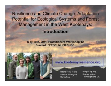 Resilience and Climate Change - Kootenay Resilience