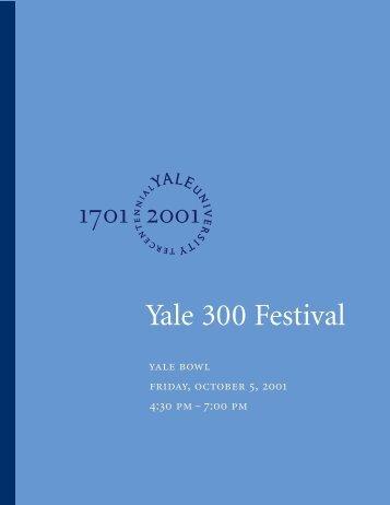Yale Festival program - Yale University