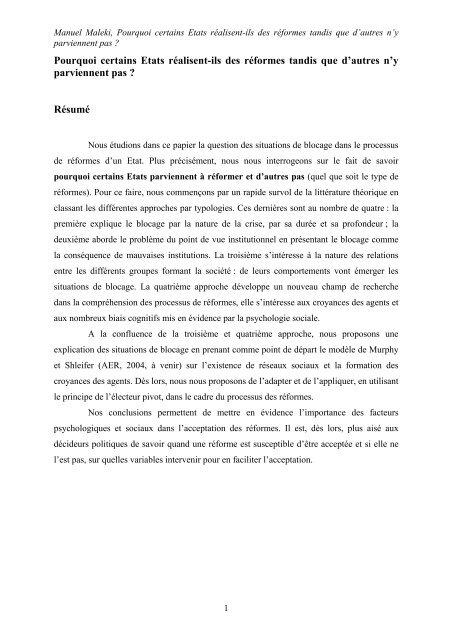 x - Centre d'Économie de la Sorbonne