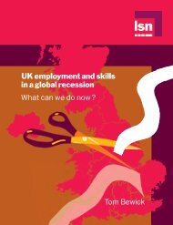 UK employment and skills in a global recession - What can we do ...