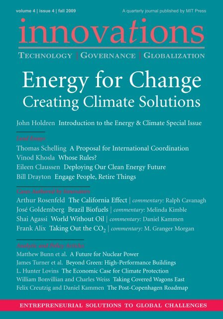 Energy for Change - Belfer Center for Science and International Affairs