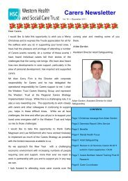 Carers Newsletter Issue 16 - Western Health and Social Care Trust