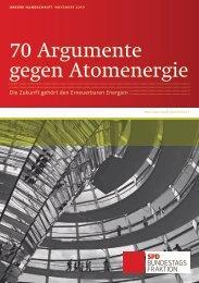 70 Argumente gegen Atomenergie - SPD Bundestagsfraktion