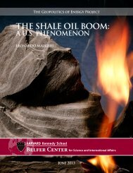 the shale oil boom - Belfer Center for Science and International Affairs