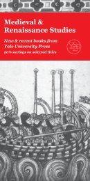 Medieval & Renaissance Studies - Yale University Press