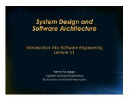 System Design - Chair for Applied Software Engineering