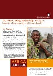 The Africa College Partnership (pdf) - University of Leeds