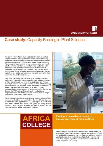 Case study - Africa College - University of Leeds