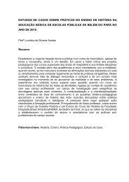 estudos de casos sobre práticas do ensino de história na ... - FIBRA.
