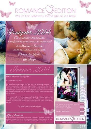 Programmvorschau 1. Halbjahr 2014 - Romance Edition
