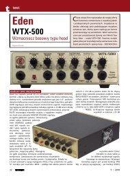 Eden WTX 500 - Music Info