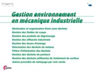 Gestion environnement en mécanique industrielle (1112-030) - Cetim