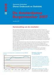 De Amsterdamse Burgermonitor 2007 - Onderzoek en Statistiek ...
