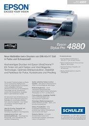 Broschüre Epson Stylus Pro 4880 (233,4 KB) - Walter Schulze GmbH