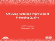 Achieving Sustained Improvement in Nursing Quality - NYS ...