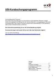 Anleitung zur Kursbuchung - USI Klagenfurt - Universität Klagenfurt