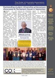 QLD Newsletter October 2011 - Order of Australia Association