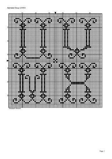 FR0080 - Alphabet Soup UVWX - Blackwork Journey