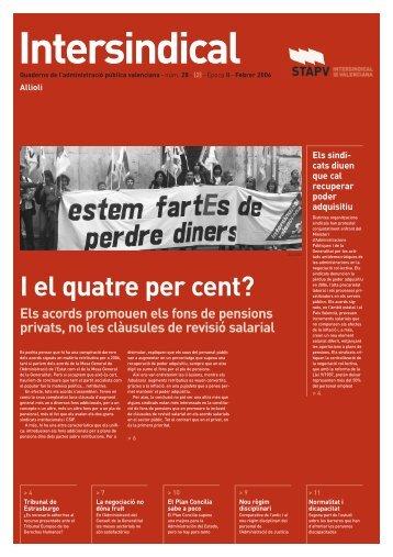 I el quatre per cent? - STAPV - Intersindical Valenciana