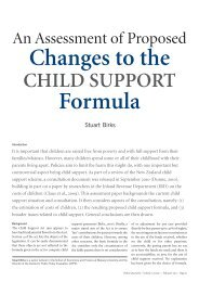 Changes To The ChIlD Support – Formula - Institute for Governance ...