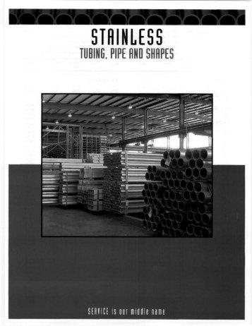 Stainless - Tubing, Pipe and Shapes - Tube Service Co.