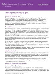 Tackling the gender pay gap