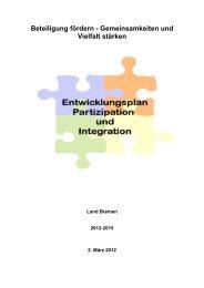 Entwicklungsplan Partizipation und Integration vom 2. März 2012