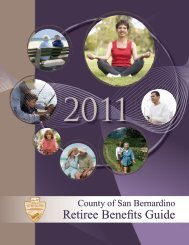 Retiree Benefits Guide - San Bernardino County