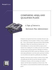 COMPARING 403(b) AND QUALIFIED PLANS - TIAA-CREF