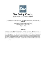 On the Distributional Effects of Base-Broadening ... - Tax Policy Center