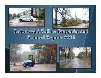 2012 Lakewood Police Annual Report - City of Lakewood, Ohio