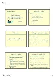 Present M2R 2009-2010 - Site Master CHM&IE