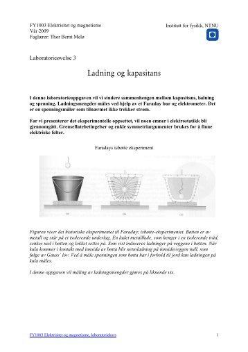 Ladning og kapasitans - NTNU