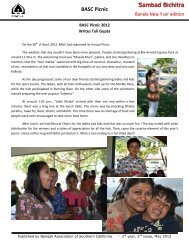 BASC Picnic S Sambad Bichitra - BASC - Bengali Association of ...