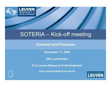 SOTERIA – Kick-off meeting