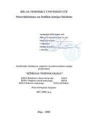 Saskaņā ar RTU Senāta 2005 - Materiālzinātnes un Lietišķās ...