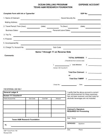 Needham School Department Expense Reimbursement Form