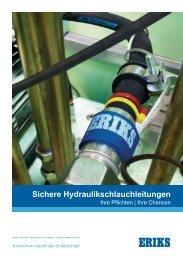 Sichere Hydraulikschlauchleitungen (pdf) - ERIKS