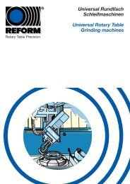 Universal Rotary Table Grinding Machines - REFORM ...
