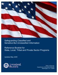 Safeguarding Classified and Sensitive But Unclassified Information ...