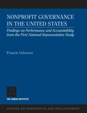 Nonprofit Governance in the United States - Urban Institute