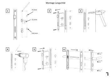 Montage Langschild - Frascio